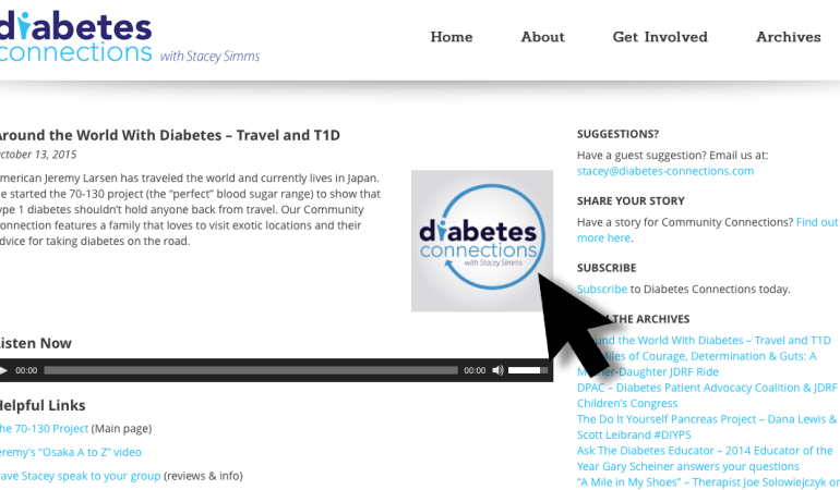 My appearance on the Diabetes Connections podcast
